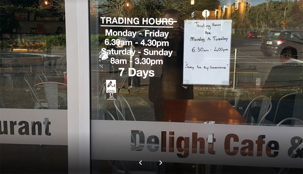 Delight Cafe New Zealand